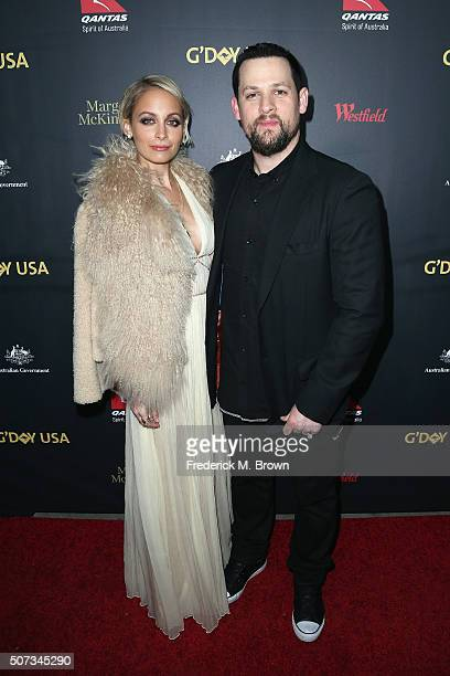 Nicole Richie and Joel Madden attend the 2016 G'Day Los Angeles Gala at Vibiana on January 28 2016 in Los Angeles California