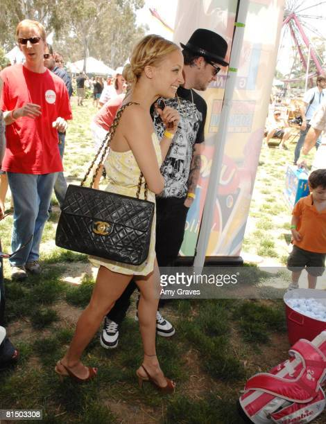 Nicole Richie and Joel Madden attend the Elizabeth Glaser Pediatric AIDS Foundation A Time For Heroes Celebrity Carnival on June 8 2008 at Wadsworth...