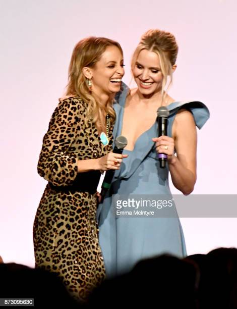 Nicole Richie and Kristen Bell onstage at The 2017 Baby2Baby Gala presented by Paul Mitchell on November 11 2017 in Los Angeles California
