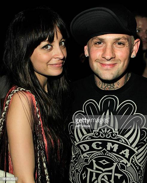 Nicole Richie and musician Benji Madden attend Charlotte Ronson and JCPenney Spring Cocktail Jam held at Milk Studios on May 4 2010 in Los Angeles...