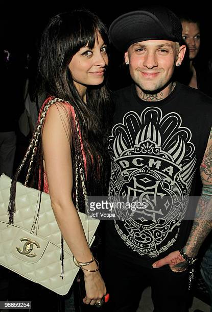 Nicole Richie and musician Benji Madden attend Charlotte Ronson and JCPenney Spring Cocktail Jam held at Milk Studios on May 4, 2010 in Los Angeles,...
