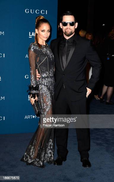 Nicole Richie and musician Joel Madden arrives at the LACMA 2013 Art Film Gala on November 2 2013 in Los Angeles California
