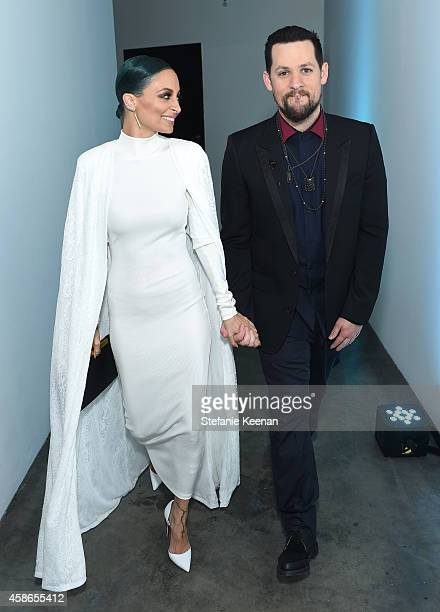 Nicole Richie and musician Joel Madden attend the 2014 Baby2Baby Gala presented by Tiffany Co on November 8 2014 in Culver City California