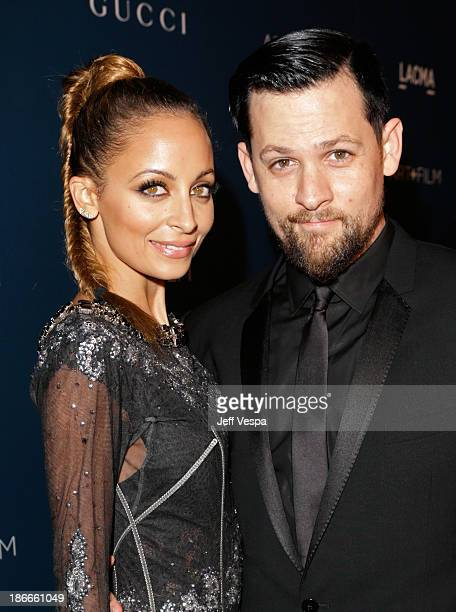 Nicole Richie and musician Joel Madden attend the LACMA 2013 Art Film Gala honoring Martin Scorsese and David Hockney presented by Gucci at LACMA on...