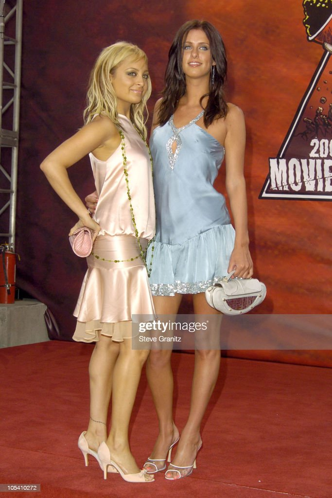 Nicole Richie and Nicky Hilton during MTV Movie Awards 2004 - Arrivals at Sony Pictures Studios in Culver City, California, United States.