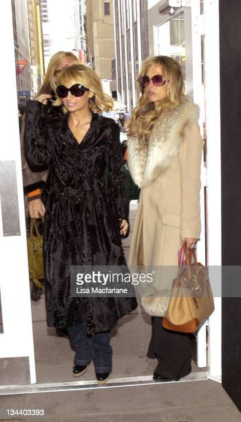 Nicole Richie and Rachel Zoe during Olympus Fashion Week Fall 2006 Day 4 Seen Around Bryant Park at Bryant Park in New York City New York United...