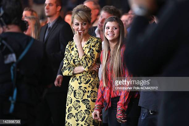 Nicole Richie and Sofia Richie attend the Lionel Richie and Friends in Concert presented by ACM held at the MGM Grand Garden Arena on April 2, 2012...