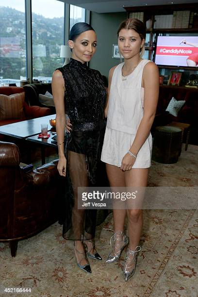 Nicole Richie and Sofia Richie attend VH1's Candidly Nicole influencer event in Los Angeles on July 14 2014 in West Hollywood California