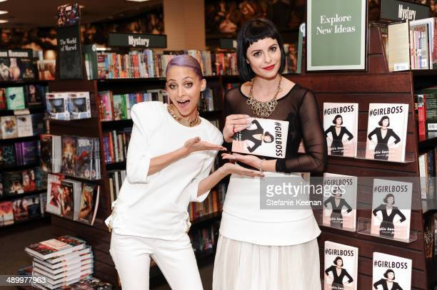 Nicole Richie and Sophia Amoruso attend #GIRLBOSS From Thief To Chief A Conversation With Sophia Amoruso And Nicole Richie at Barnes Noble bookstore...
