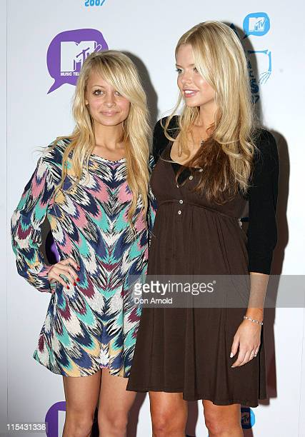 Nicole Richie and Sophie Monk during MTV Australia Video Music Awards 2007 Press Conference at Hilton Hotel in Sydney NSW Australia
