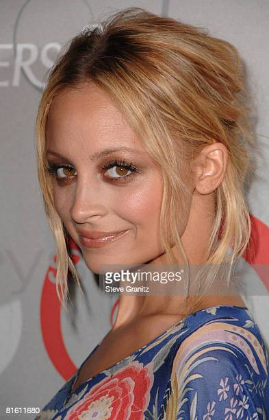 Nicole Richie arrives at The 2008 Crystal Lucy Awards 'A Black And White Gala' on June 17 2008 at the Beverly Hilton Hotel in Beverly Hills California