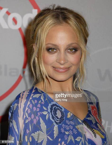 Nicole Richie arrives at the 2008 Crystal Lucy Awards 'A Black And White Gala' held at the Beverly Hilton Hotel on June 17 2008 in Beverly Hills...