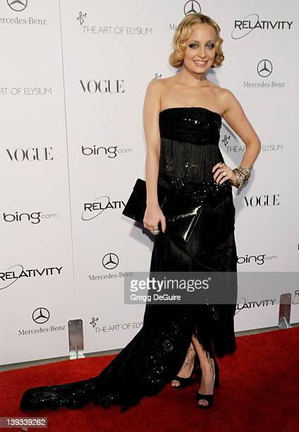 """Nicole Richie arrives at The Art Of Elysium's 4th Annual Black Tie Charity Gala """"Heaven"""" at The Annenberg Building at the California Science Center..."""