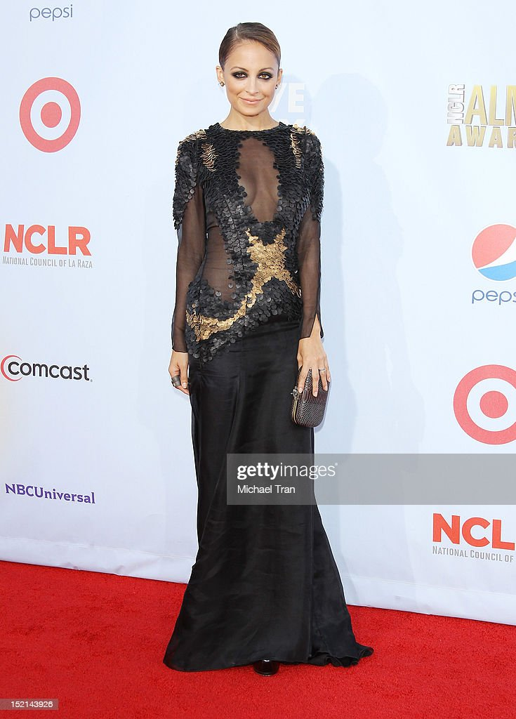 Nicole Richie arrives at the NCLR 2012 ALMA Awards held at Pasadena Civic Auditorium on September 16, 2012 in Pasadena, California.