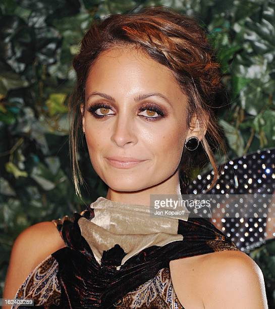 Nicole Richie arrives at the QVC Red Carpet Style Party at Four Seasons Hotel Los Angeles at Beverly Hills on February 22, 2013 in Beverly Hills,...