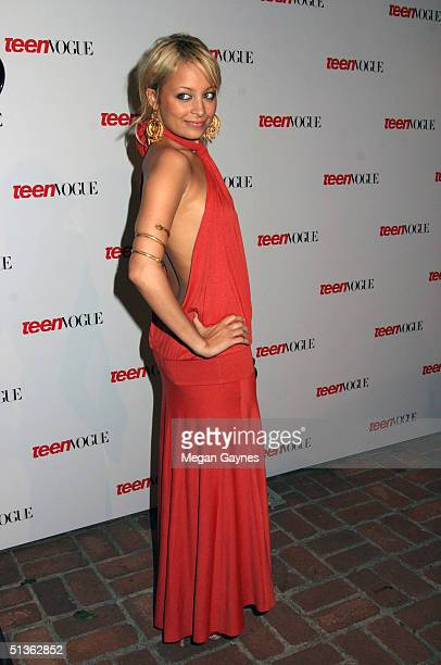 Nicole Richie arrives at the Teen Vogue Young Hollywood Party at Chateau Marmont on September 23 2004 in Hollywood California
