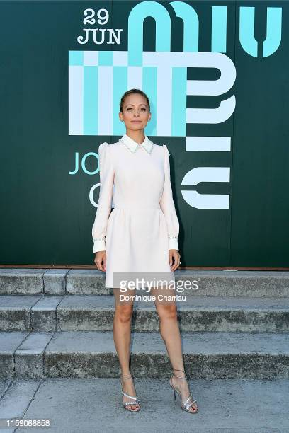 Nicole Richie attends Miu Miu Club event at Hippodrome d'Auteuil on June 29 2019 in Paris France