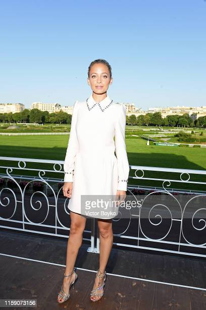 Nicole Richie attends Miu Miu Club event at Hippodrome d'Auteuil on June 29, 2019 in Paris, France.