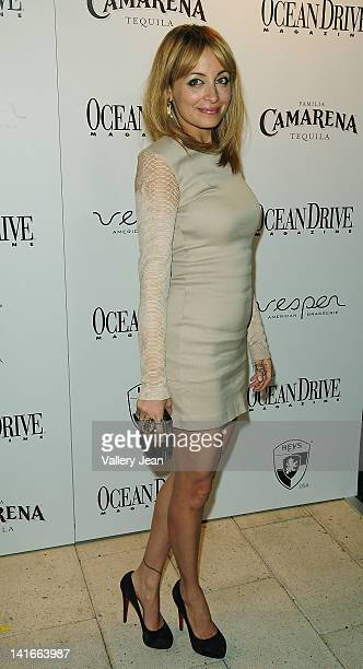 Nicole Richie attends Ocean Drive magazine cover party at Shelborne on March 20 2012 in Miami Beach Florida