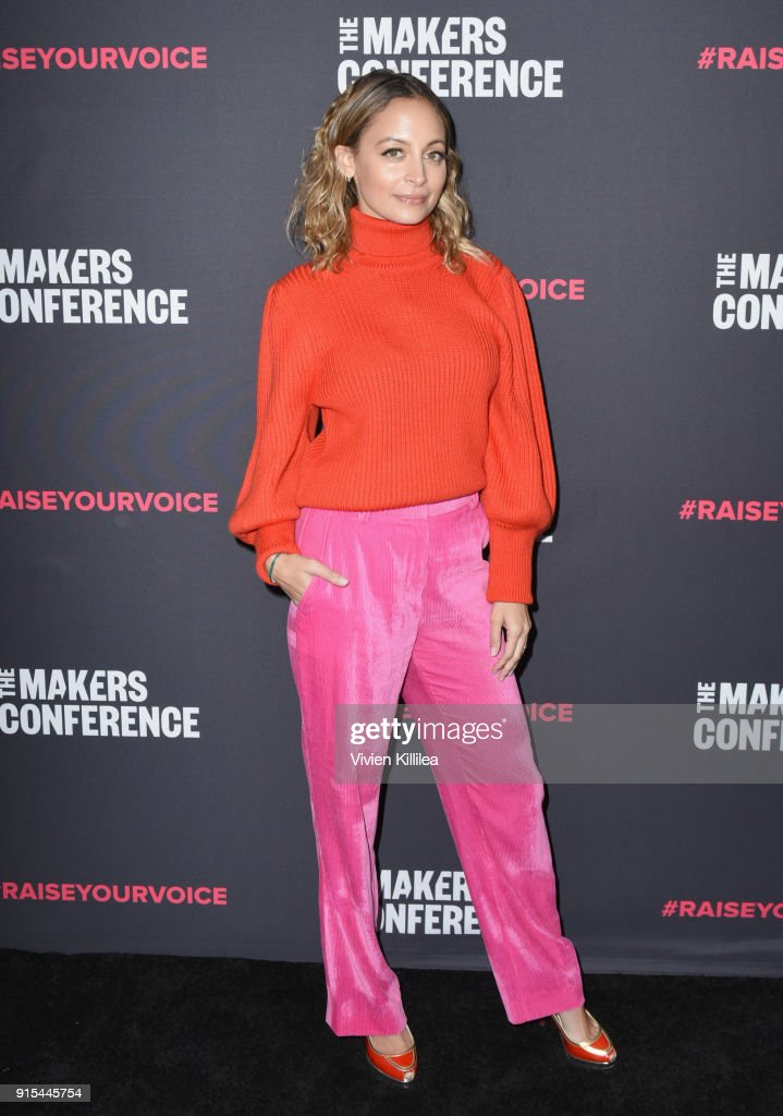 Nicole Richie attends The 2018 MAKERS Conference at NeueHouse Hollywood on February 7, 2018 in Los Angeles, California.