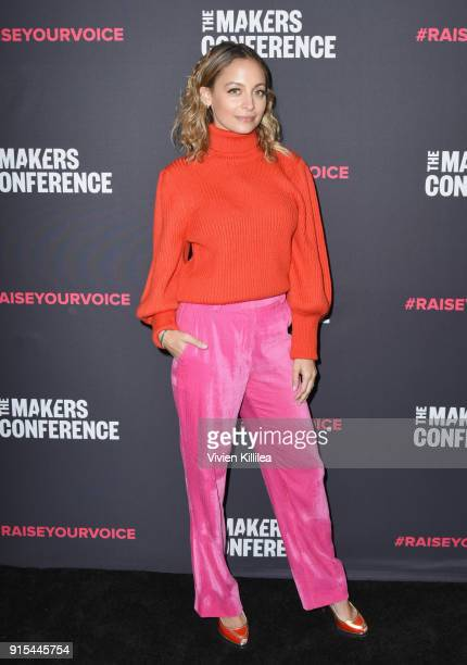 Nicole Richie attends The 2018 MAKERS Conference at NeueHouse Hollywood on February 7 2018 in Los Angeles California