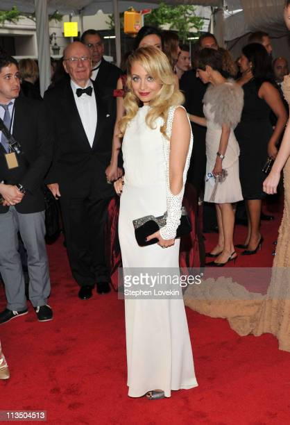 Nicole Richie attends the Alexander McQueen Savage Beauty Costume Institute Gala at The Metropolitan Museum of Art on May 2 2011 in New York City