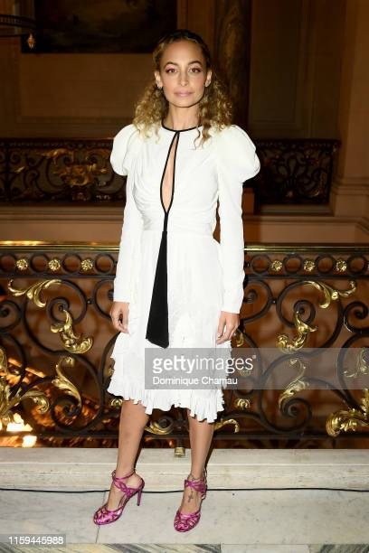 Nicole Richie attends the Giambattista Valli aute Couture Fall/Winter 2019 2020 show as part of Paris Fashion Week on July 01, 2019 in Paris, France.