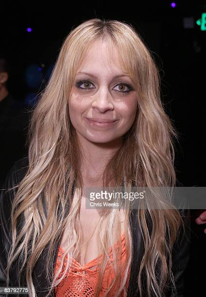 Nicole Richie attends the Good Charlotte release party of their Greatest Hits Remix album at the ECCO Ultra Lounge on November 22 2008 in Hollywood...