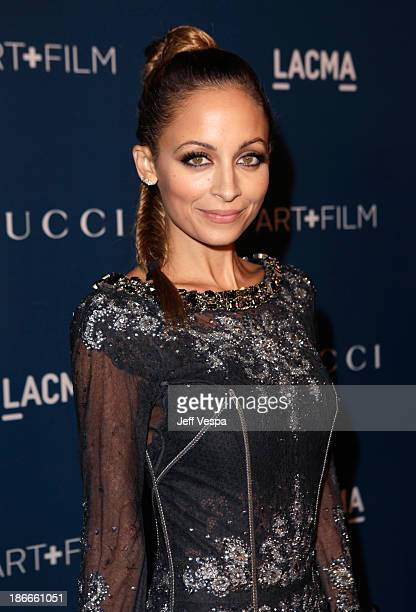 Nicole Richie attends the LACMA 2013 Art + Film Gala honoring Martin Scorsese and David Hockney presented by Gucci at LACMA on November 2, 2013 in...
