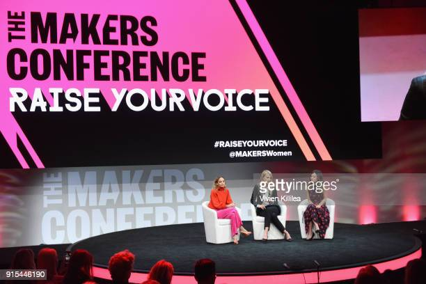 Nicole Richie CoPresidents of Baby2Baby Kelly Sawyer Patricof Norah Weinstein attend The 2018 MAKERS Conference at NeueHouse Hollywood on February 7...