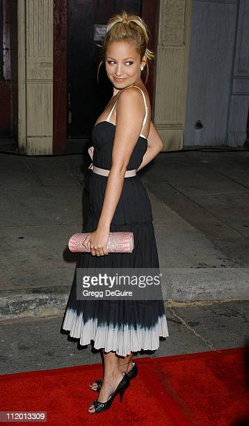 Nicole Richie during 2004 Fox AllStar Party at 20th Century Fox Studios in Los Angeles California United States