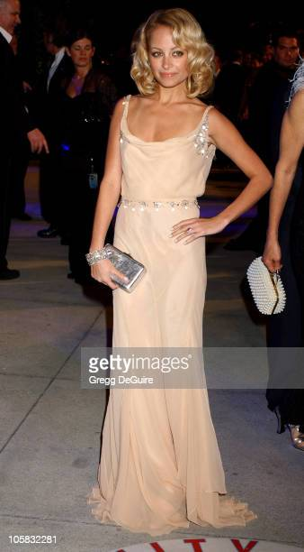 Nicole Richie during 2005 Vanity Fair Oscar Party Arrivals at Mortons in Los Angeles California United States