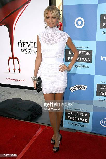 Nicole Richie during Film Independent's Los Angeles Film Festival Opening Night 'The Devil Wears Prada' at Mann Village Theatre in Westwood...