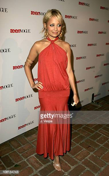Nicole Richie during Teen Vogue Young Hollywood Party Arrivals at Chateau Marmont in Hollywood California United States