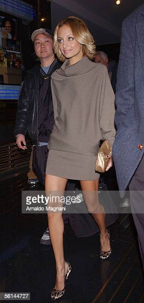Nicole Richie leaves after appearing on the Conan O'Brian show promoting her new book 'The Truth About Diamonds' November 11 2005 in New York City