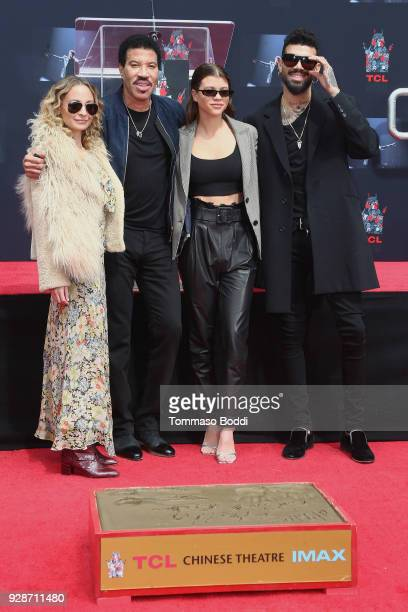 Nicole Richie Lionel Richie Sofia Richie and Miles Richie attend the Lionel Richie Hand And Footprint Ceremony at TCL Chinese Theatre on March 7 2018...