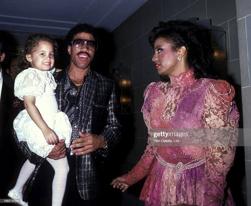 Nicole Richie, musician Lionel Richie and Brenda Harvey attend Benefit Concert for RP Foundation Fighting Blindness on September 5, 1985 at the Waldorf Hotel in New York City.