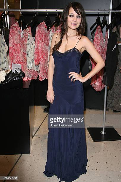 Nicole Richie poses during the launch of the 'Winter Kate' collection at Galeries Lafayette on February 24 2010 in Paris France