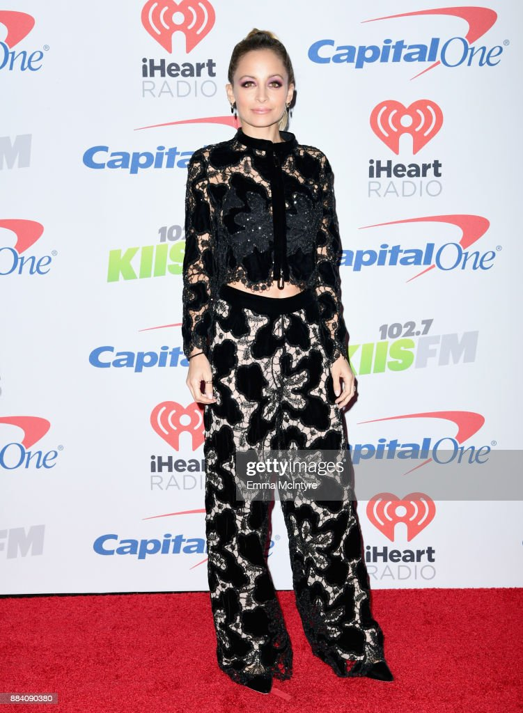 Nicole Richie poses in the press room during 102.7 KIIS FM's Jingle Ball 2017 presented by Capital One at The Forum on December 1, 2017 in Inglewood, California.