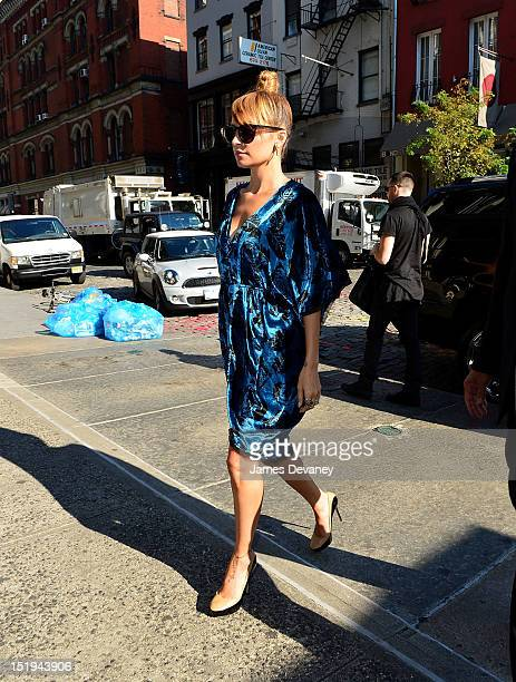 Nicole Richie seen on the streets of Manhattan on September 12 2012 in New York City