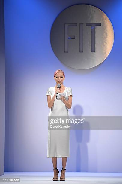 Nicole Richie speaks onstage at The Fashion Institute Of Technology's Future Of Fashion Runway Show hosted by Nicole Richie at The Fashion Institute...