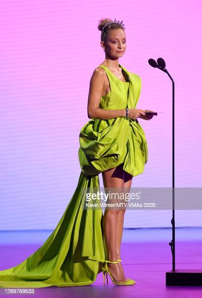 Nicole Richie speaks onstage during the 2020 MTV Video Music Awards, broadcast on Sunday, August 30th 2020.