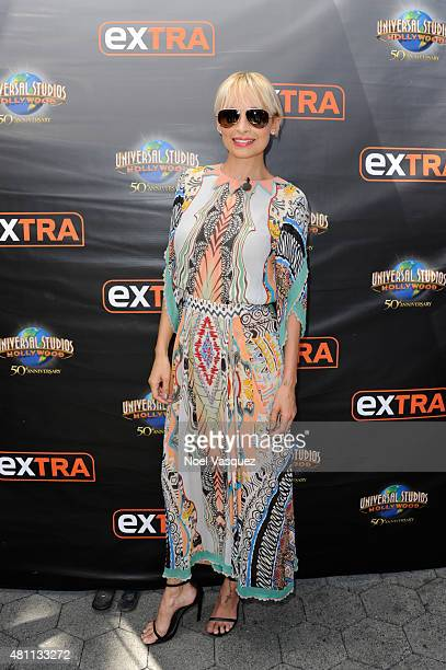 Nicole Richie visits 'Extra' at Universal Studios Hollywood on July 17 2015 in Universal City California