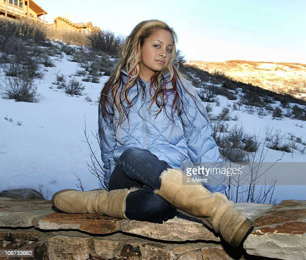 Nicole Richie with The North Face during 2004 Sundance Film Festival Hot House Day 3 at Deer Valley Private Residence in Deer Valley Utah United...