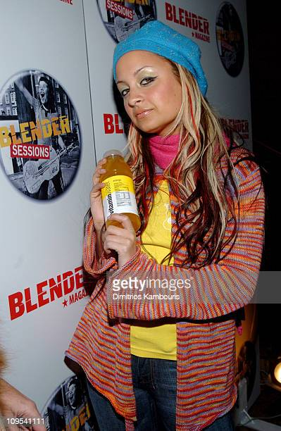 Nicole Richiewith Vitamin Water during 2004 Park City Blender Sessions Trampoline Showcase Featuring Pete Yorn and Special Guest Minnie Driver at...