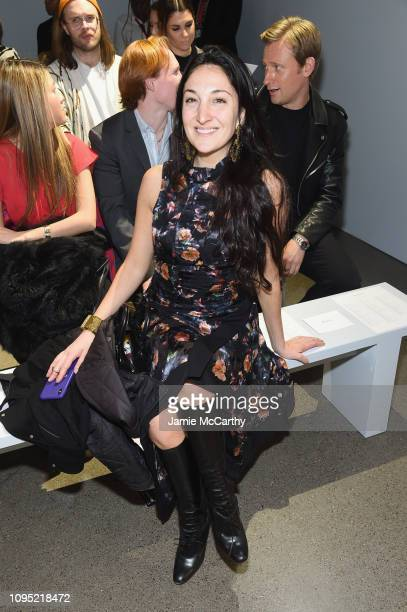 Nicole Romano attends the Nicole Miller front row during New York Fashion Week The Shows at Gallery II at Spring Studios on February 7 2019 in New...