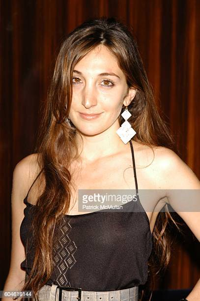 Nicole Romano attends Unveiling of 40 Days art installation by Gonzalo Papantonakis at Thom Bar at 60 Thompson NYC on June 26 2006