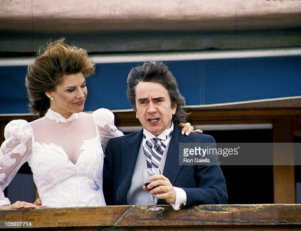 Nicole Rothschild and Dudley Moore during Dudley Moore and Nicole Rothschild Wedding at Marina Del Rey in Marina Del Rey California United States