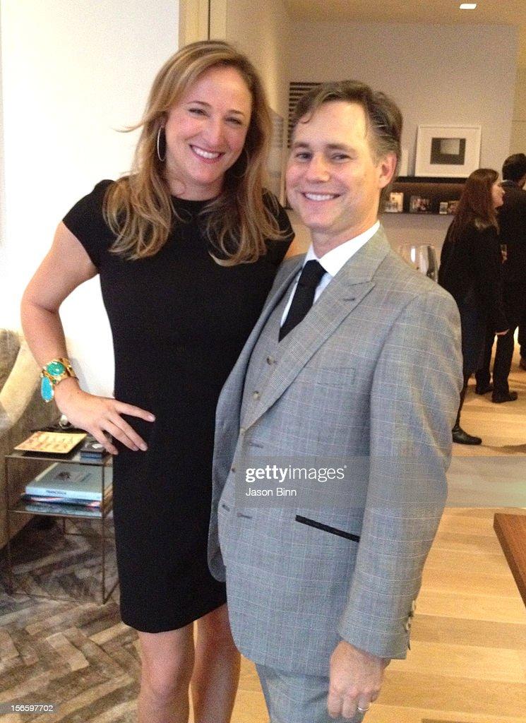 Nicole Ruvo and DuJour Magazine's Jason Binn pose circa October 2012 in New York City.
