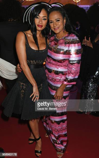 Nicole Scherzinger and Isabel dos Santos attend the de Grisogono party during the 71st annual Cannes Film Festival at Villa des Oliviers on May 15...